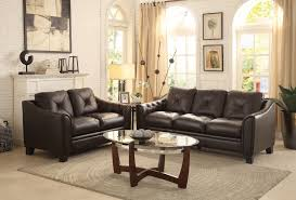 Top Grain Leather Living Room Set Homelegance Memphis Sofa Set Top Grain Leather Match Chocolate