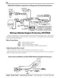 msd ignition wiring diagrams installation instructions part 2 · msd 6m 2 marine ignition to magnetic pickup distributor