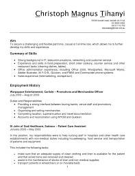 Telemarketing Resume Hoe Administrator Cover Letter It Support