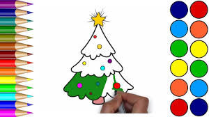 Drawing Christmas Tree For Children Xmas Tree Coloring Pages