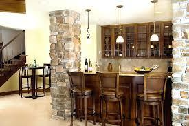 basement bar lighting ideas. Basement Bar Lighting Ideas Awesome Design Idea With Stone Kitchen Pillar And Dark Brown Wood