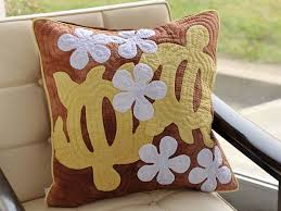 106 best Tecnica havaiana images on Pinterest   Crafts, Flower and ... & 18X18 pillow cover Honu(turtle) and plumeria · Hawaiian Quilt ... Adamdwight.com
