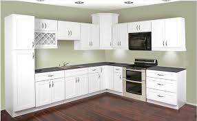 Modern Kitchen with Wooden White Painted Thermofoil Cabinet Door ...