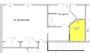 master bathroom floor plans with walk in closet. Plain Closet Large Walk In Closet Size Standard Average  Typical   To Master Bathroom Floor Plans With Walk In Closet F