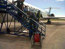 although more and more airports worldwide have jetways sometimes being carried is the only way