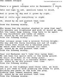 pete seeger song the cement octopus lyrics and chords pete seeger song the cement octopus lyrics and chords
