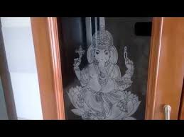 pooja room door designs with glass and