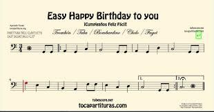 happy trombone sheet music happy birthday to you easy sheet music for trombone cello tuba