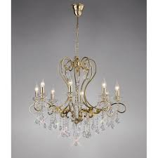 diyas il32068 vela pendant 8 light french gold crystal