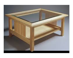 Coffee Table Top Glass Glass Top Table Solid Hard Maple Construction Coffee Tables
