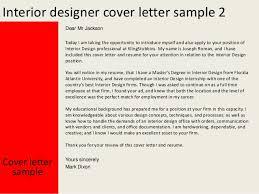 interior designer cover letter cover letter interior designer