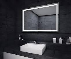 illuminated bathroom mirror with