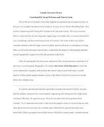 Literary Essay Example Literary Essay Example Sample Literature