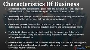 business assignment help 4 characteristics of business