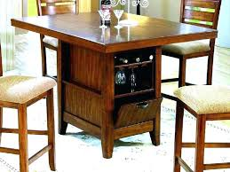wine storage table counter height table with storage bar storage table bar height kitchen table kitchen