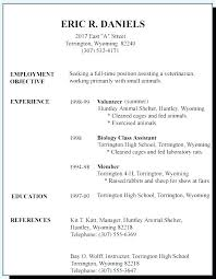 First Resume Objective