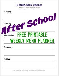 After School Snack Ideas Weekly Menu Planning Kids Creative Chaos