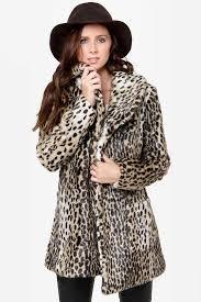 glamour spots animal print coat