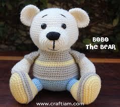 Crochet Bear Pattern Cool BoBo The BEAR Crochet Bear Pattern Craft I Am