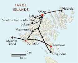 hiking the faroe islands  itinerary  map  wilderness travel