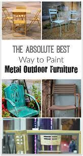 paint metal furniture