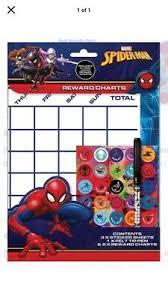 Spiderman Reward Chart Marvel Spiderman Reward Chart Behaviour Manners Potty