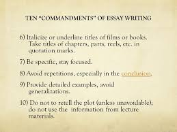 research paper pln cmn research paper % research on  ten commandments of essay writing 6 italicize or underline titles of films or books