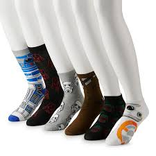 <b>Men's</b> 6-pack Star Wars <b>Novelty Fashion</b> Socks