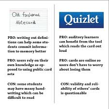 The Reality Of Virtual Studying Quizlet Versus Traditional