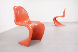 molded plastic dining chairs. Verner Panton - Red S Chairs Fehlbaum Herman Miller 1970s Mid Century Molded Plastic Dining