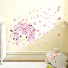 Cute mermaid home decor inspiration ideas Ariel Flower Fairy Pink Cute Baby Girl Mermaid Butterfly Home Decor Wall Sticker For Girls Kids Room Nesvizhinfo Cute Home Decor Nesvizhinfo
