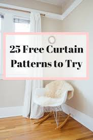 Curtain Patterns Delectable The 48 Best Free Curtain Patterns To Add To Your ToDo List FeltMagnet