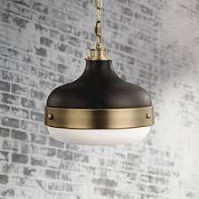 Brass pendant lighting Large Feiss Cadence 13 Lamps Plus Black Brass Antique Brass Pendant Lighting Lamps Plus