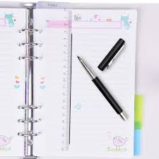 Page Binder Larcenciel A5 Binder Index Dividers Pvc Insertable Index Page 2 Sets 12 Pcs Translucent Binder Tab Cards For Filofax Notebook Travel Diary