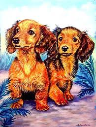 dachshund garden flag long hair red dachshund 2 sided garden flag dachshund holiday garden flags