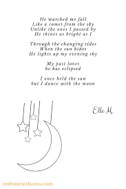 Poems About Shining Your Light Moonlight Poem By Elle M Redrosesnthorns Com Poetry Poems