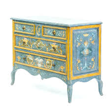 pair of century style custom painted chests furniture houston