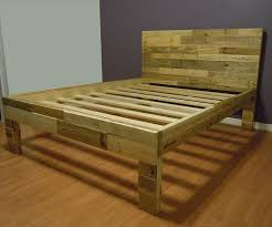 Pallet Bed Frame 3 In Natural Wood Color Founterior Bed Frame Made Of  Pallets