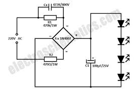 ac powered 220v led circuit 220v led circuit schematic