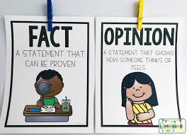 Fact Vs Opinion Anchor Chart Fact And Opinion Activities For The Primary Classroom The