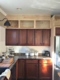 top of cabinet lighting. Adding Height To Kitchen Cabinets Top Of Cabinet Lighting