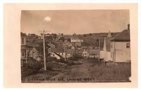 Maine Smyrna Mills , Looking West, Main Street RPC / HipPostcard