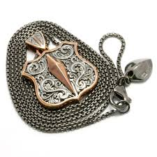 stephen webster highwayman silver shield pendant necklace