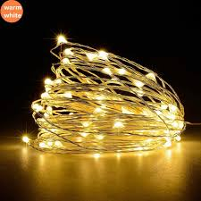 Indoor Christmas Lights White Wire Led Strings Copper Wire 1 10m 100 3xaa Battery Usb Operated