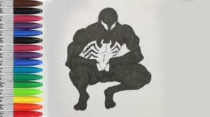 Black spiderman coloring pages how to color spiderman with black. Spiderman Coloring Pages Spiderman Symbiot In Ultimate Spiderman Fun Pages Sailany Coloring Kids Youtube