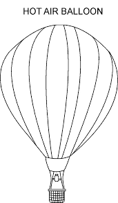 hot air balloon coloring pages free to print