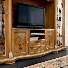 classic tv cabinet solid wood bella vita modenese gastone luxury classic furniture brown solid wood furniture
