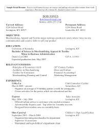 Fair Resume Objective Retail Position For Resume Examples