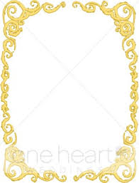 gold ribbon border gold victorian frame ribbon borders