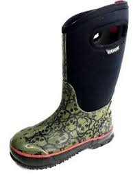 Youth Size 2 Shoes Chart Details About Bogs Skulls Clscs 71440 001 Rain Boots Youth Size Us 2 Eu 33